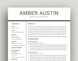professional resume template resume template cv template for word professional resume