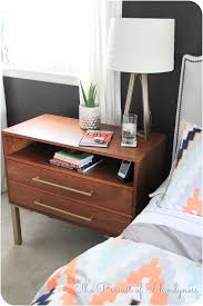 Dresser As Nightstand Bedside Bachelors Chest Complete Diy Bedside Table Tutorial