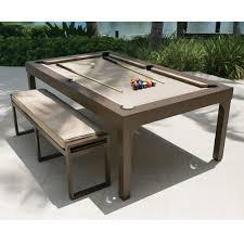 Where To Buy Dining Table And Chairs The Outdoor Billiards To Dining Table Hammacher Schlemmer