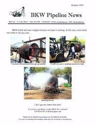 recent projects by bkw inc pipeline design manufacturing and
