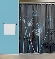 Unique Shower Curtains Blue Fabric Shower Curtains Gray Floor Pale White Curtain Soft