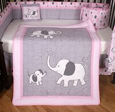 Pink And Gray Crib Bedding Boutique Pink Gray Elephant 13pcs Crib Bedding Sets A Boutique
