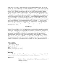 Resume Samples Chef by Example Of A Chef Resume Free Resume Example And Writing Download