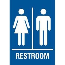 bathroom men family restroom blue sign large 12 x 18 men women bathroom signs