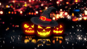 halloween red background seamless looping animation of halloween jack o lantern pumpkin