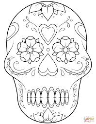 brilliant sugar skull coloring page alphabrainsz net