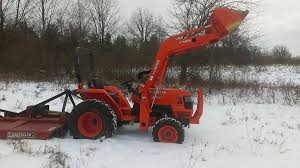 kubota l3400 4x4 compact tractor with la463 loader attachment 225
