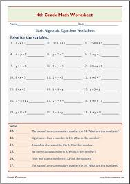 free printable worksheets for 4th grade