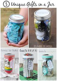 5 unique gifts in a jar that are for the holidays blue