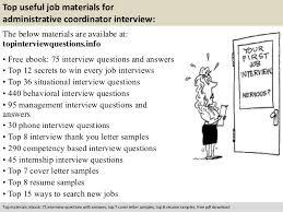 administrative coordinator interview questions