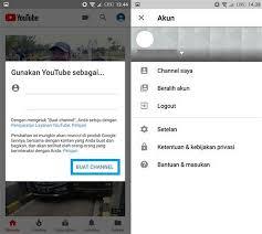 membuat akun youtube di hp collection of cara membuat channel youtube di hp android cara
