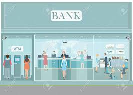 un bureau de change bank construction contre un bureau extérieur et intérieur