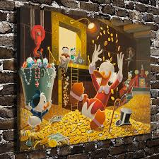 aliexpress com buy 11115 donald duck scrooge mcduck children aliexpress com buy 11115 donald duck scrooge mcduck children cartoon hd canvas print home decoration living room bedroom wall pictures art painting from