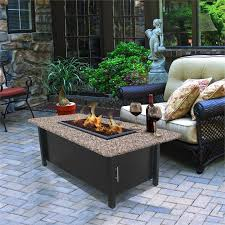 Patio Tables With Fire Pit Coffee Table Fire Pit Dining Outdoor Patio Furniture Propane Fire