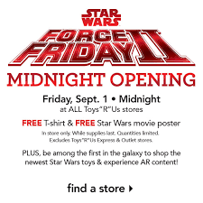 toysrus star wars force friday ii free shirt movie poster