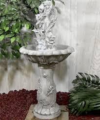 fairy flower solar on demand water fountain