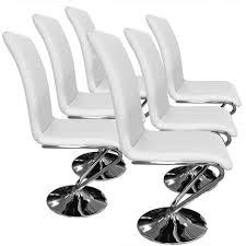 chaise pas cher lot de 6 6 chaises cool ensemble de chaises design en pu noir et pieds en