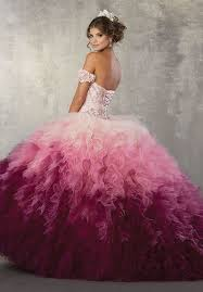 ombre dress strapless ombre quinceanera dress by mori vizcaya 89161 abc