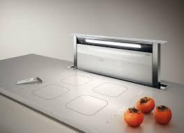 hotte de cuisine escamotable hotte escamotable sous plan de travail