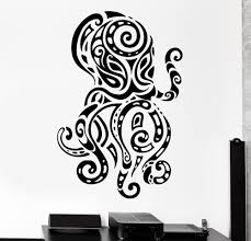 online buy wholesale octopus wall decal from china octopus wall creative octopus wall decal ocean sea ornament tribal mural vinyl decal home decoration wall paper a