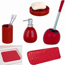 Red Bathroom Accessories Sets by Bathroom Accessories Red Is Vibrant Pinterest Gardens Home