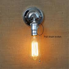 Bedroom Wall Lights With Switch Aliexpress Com Buy Pull Chain Switch Scones Led Wall Lights
