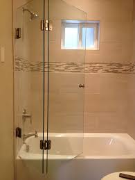 Frameless Bifold Shower Door Frameless Bi Fold Shower Screen Glass Accents