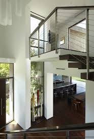 open riser stair entry modern with open tread staircase los