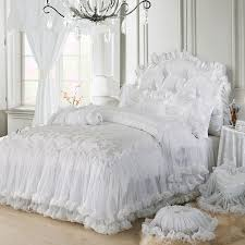 Black And White Lace Comforter 4pc 6pc 9pc Princess Bedding Set Romantic Bedspread Red Purple