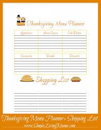 thanksgiving splendiiving menu planner top best shopping list