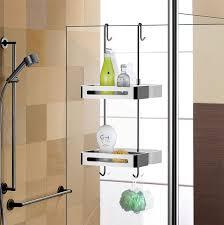 over door double shelf hanging shower caddy wire basket shower