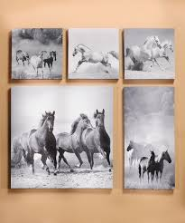 girls horse themed bedding take a look at this black u0026 white horse wrapped canvas set today