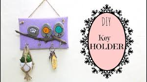 Diy For Home Decor by How To Make A Key Holder Diy For Home Decor Using Waste Youtube