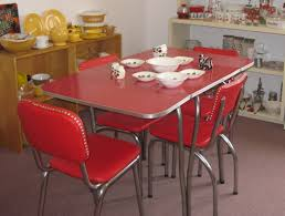 Red Retro Kitchen Table And Chairs Vintage Kitchen Red Formica - Red kitchen table and chairs