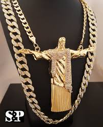 jesus hip hop necklace images Big jesus whole body pendant full iced out cuban chain hip hop neckl jpg