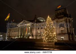 berlin germany decorated christmas tree in front of the