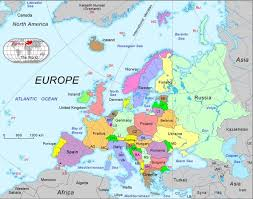 european countries on a map map of all of europe major tourist attractions maps