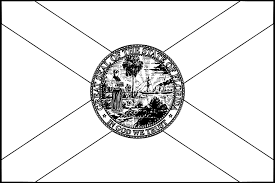 florida flag coloring page coloring page