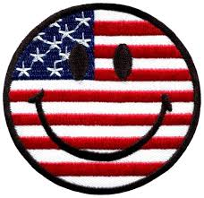 Iron On American Flag Free Shipping 50 Pcs Lot Wholesale Embroidered Smiley Face