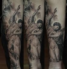 awesome sleeve tattoo religious black full sleeve tattoo design by dmitriy samohin