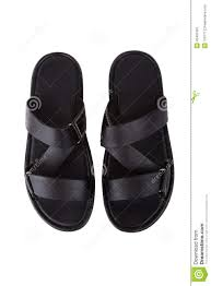 black leather mens sandals shoes stock image image 42497687