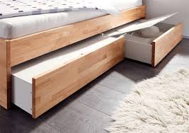 Beech Bed Frame Contemporary Designer Beds Hasena Spazio Duetto Solid Beech