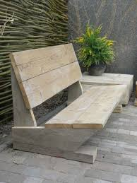 simple patio bench concept and made of wooden bench pinterest