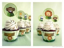 jungle cupcake toppers baby shower printable safari cupcake