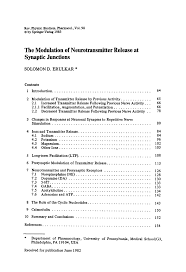 Sheridan Optimal Resume The Modulation Of Neurotransmitter Release At Synaptic Junctions