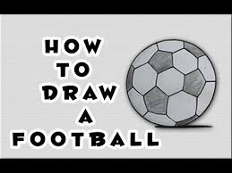 how to draw a football soccer ball youtube