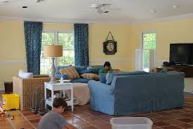 Modern Beach Cottage Makeover Family Room The House Of Silver - Cottage family room