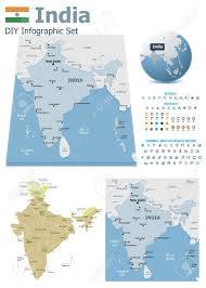 India Maps by India Maps With Markers Royalty Free Cliparts Vectors And Stock