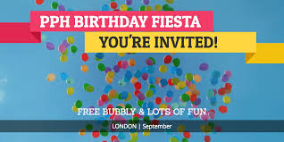 you u0027re invited join us at the pph birthday party in london