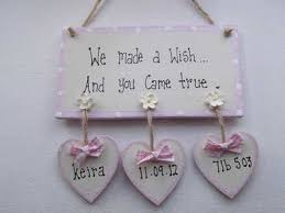baby plaques personalised we made a wish new baby plaque dekoracje